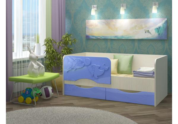 Детская кровать Дельфин-2 МДФ 1,4 м. – фото 7
