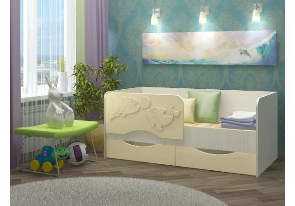Детская кровать Дельфин-2 МДФ 1,6 м. – фото 2